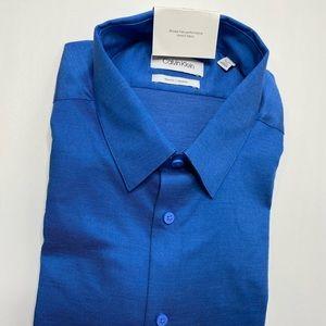 Calvin Klein Men, XL blue dress shirt long sleeves
